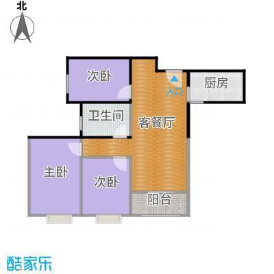 嘉顺时代广场93.71㎡户型3室1厅1卫1厨