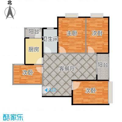 嘉顺时代广场118.72㎡户型4室1厅1卫1厨