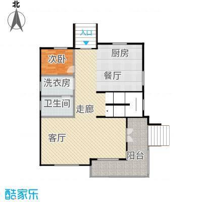 双富嘉园92.20㎡B区三层一层平面图户型10室