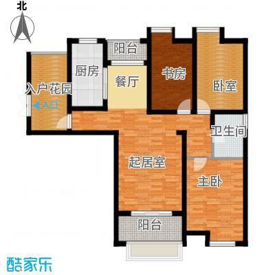 东方曼园118.00㎡一期K户型3室2厅1卫