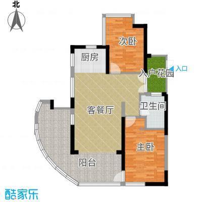 鲁能三亚湾94.98㎡美丽五区C楼C3户型2室1厅1卫