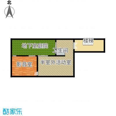 亚龙湾公主郡三期104.00㎡三期独栋别墅D-地下一层户型1室1卫