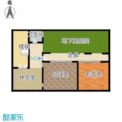 亚龙湾公主郡三期138.00㎡三期独栋别墅E-地下一层户型1室1卫