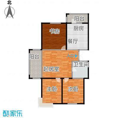 玉龙湾119.58㎡4栋2单元3号户型3室2厅1卫
