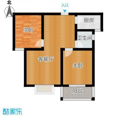 天洲沁园87.38㎡C户型3室2厅2卫