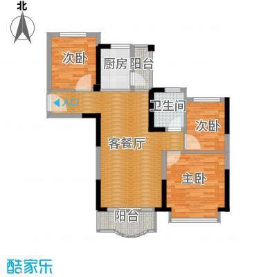 碧桂园城市花园95.00㎡户型3室2厅1卫