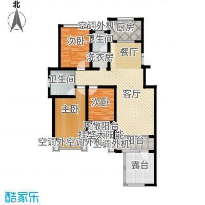 豪门府邸142.93㎡户型3室1厅2卫1厨