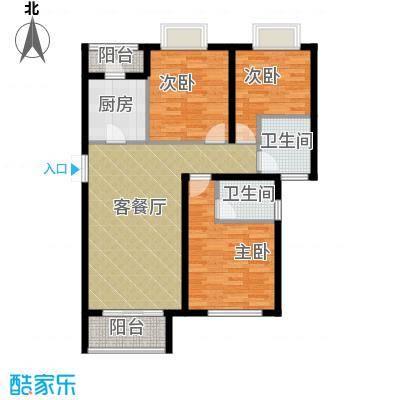麒麟山庄110.00㎡H3户型3室2厅2卫