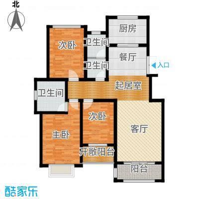 豪门府邸143.17㎡户型3室3卫1厨