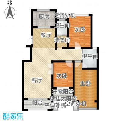 豪门府邸140.45㎡户型3室1厅2卫1厨