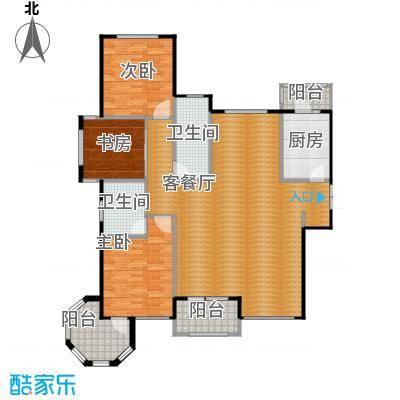 国赫红珊湾149.42㎡8号楼A户型3室2厅2卫