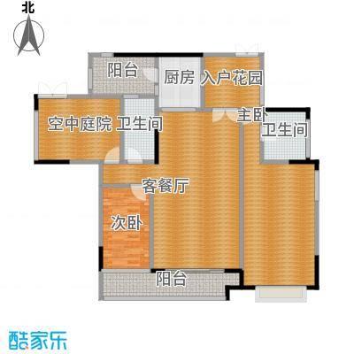 金宇锦园107.00㎡御景台2-24层双数层A/D单位户型2室1厅2卫1厨