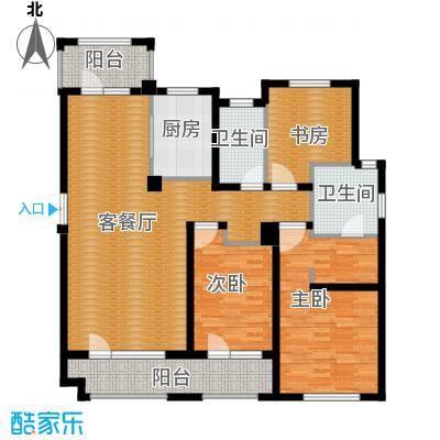 朗诗保利麓院138.00㎡10#3楼户型3室2厅2卫