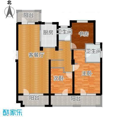 朗诗保利麓院138.00㎡10#4楼户型3室2厅2卫