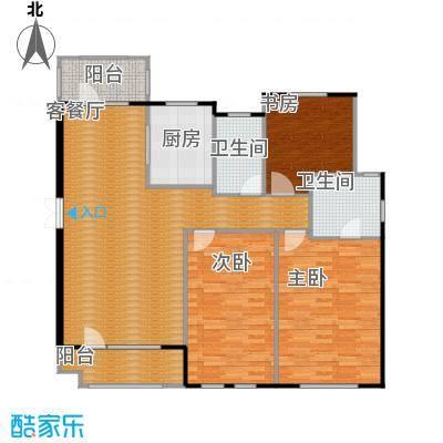 朗诗保利麓院138.00㎡10#2楼户型3室2厅2卫