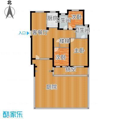 朗诗保利麓院138.00㎡10#1楼户型3室2厅2卫