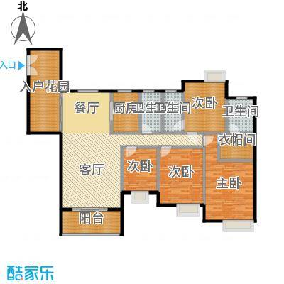 勒水名筑161.49㎡户型4室1厅3卫1厨