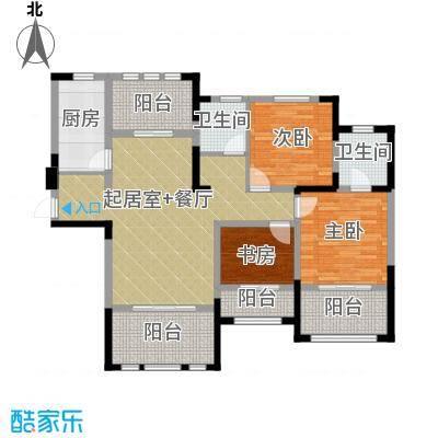 阳光帝景126.00㎡H户型3室2厅2卫