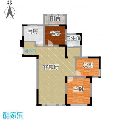 阳光帝景117.00㎡E户型3室2厅1卫