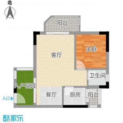 三亚鸿洲佳园51.51㎡户型10室