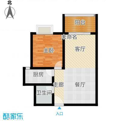 红沙丽景嘉园71.48㎡户型1室2厅1卫