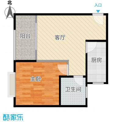 合兴福邸46.00㎡户型10室