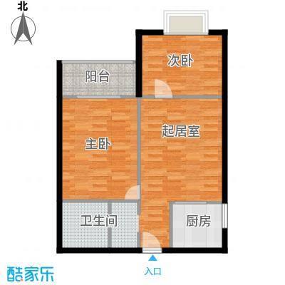 太阳岛公寓85.00㎡户型10室