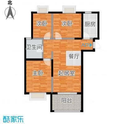 北江锦城94.00㎡户型3室1厅1卫