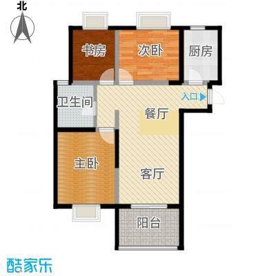 北江锦城94.00㎡GC3户型3室2厅1卫