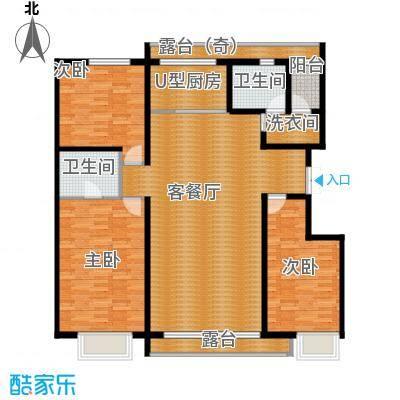 富达蓝山117.59㎡户型3室2厅2卫