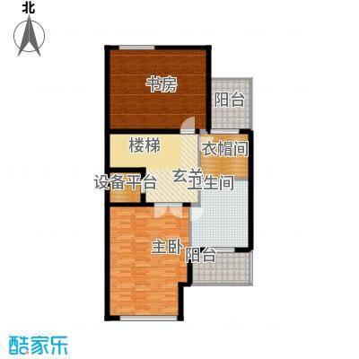 汇锦庄园74.00㎡联排别墅三层户型3室1卫