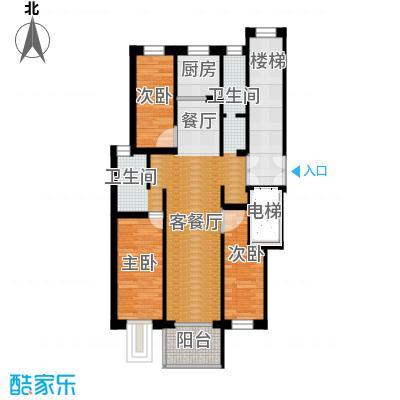 壹度恒园124.92㎡户型3室2厅2卫