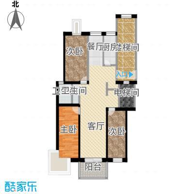 壹度恒园94.34㎡户型2室2厅1卫