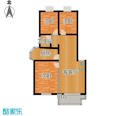 翠语棠城88.00㎡B户型3室1厅1卫1厨