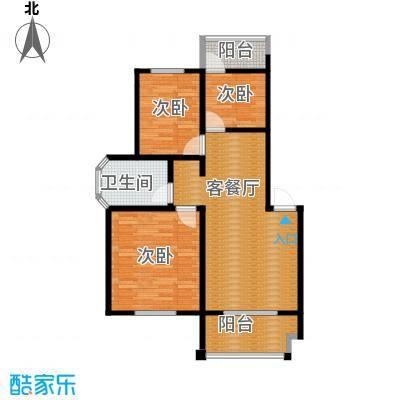 翠语棠城78.00㎡A户型3室1厅1卫