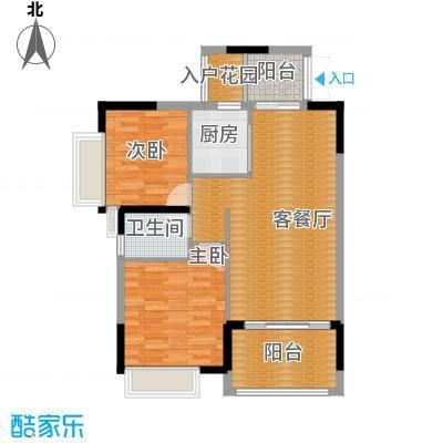 三水奥林匹克花园87.00㎡峰景15栋03-04单位户型2室1厅1卫1厨