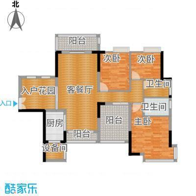 三水奥林匹克花园111.00㎡峰景15栋01-02单位户型3室1厅2卫1厨
