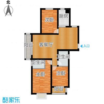 珠峰国际花园三期141.78㎡27号楼-1户型3室1厅2卫1厨