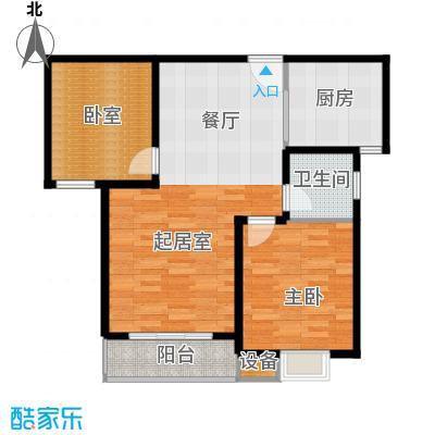 珠峰国际花园三期96.43㎡27号楼-5户型1室1卫1厨