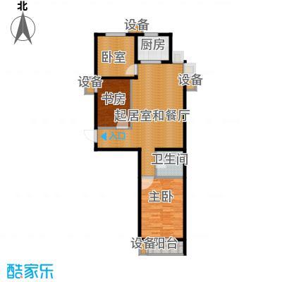 珠峰国际花园三期104.87㎡27号楼-3户型2室1卫1厨