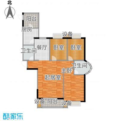 珠峰国际花园三期139.31㎡A户型1室2卫1厨