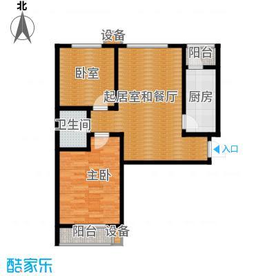 珠峰国际花园三期92.34㎡27号楼-4户型1室1卫1厨