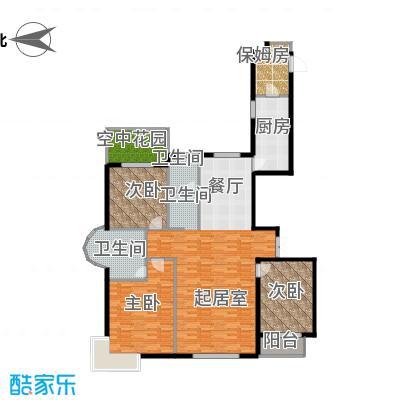 珠峰国际花园三期180.00㎡&nbsp&nbspA户型3室2卫1厨