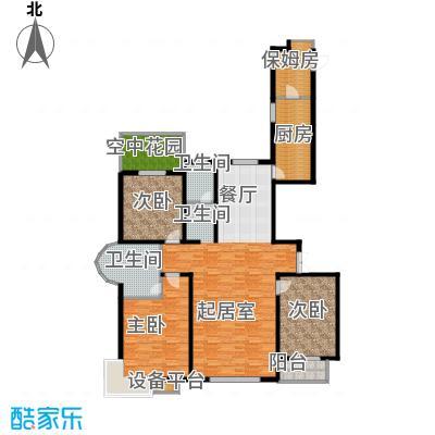 珠峰国际花园三期163.66㎡&nbsp&nbspA-01户型3室2卫1厨