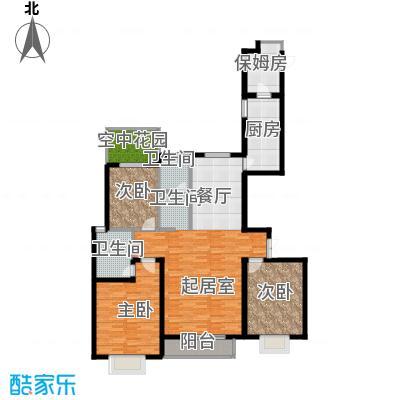 珠峰国际花园三期136.90㎡&nbsp&nbspB-02户型3室2卫1厨