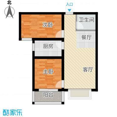 紫睿天和81.05㎡I户型2室2厅1卫