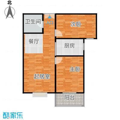 紫睿天和88.15㎡B户型2室2厅1卫