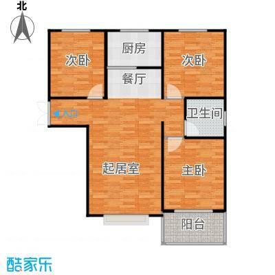 紫睿天和108.89㎡C户型3室2厅1卫