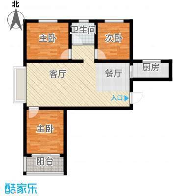 紫睿天和109.21㎡H户型3室2厅1卫