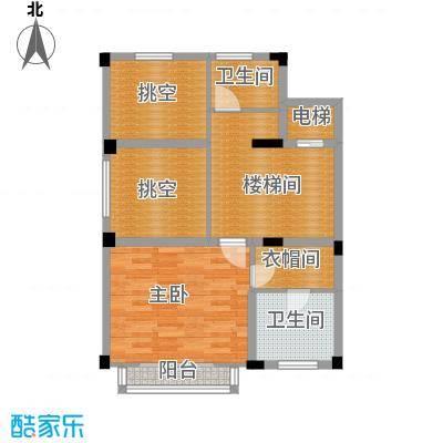 宏图上水庭院71.67㎡联排H-C夹层户型10室